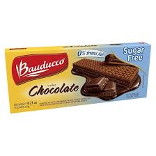 Bauducco Waffer Sugar Free Chocolate 4.23oz - Wafer Chocolate Sem Acucar 120g