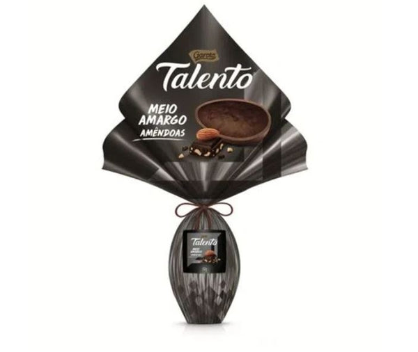 Garoto Talento Chocolate Meio Amargo com Amendoas 350g - Dark Chocolate with Almond Easter Egg 12.3oz