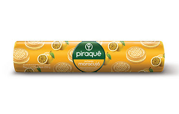 Piraque Biscoito Recheado Maracuja 160g - Passion Fruit Sandwich Cookies