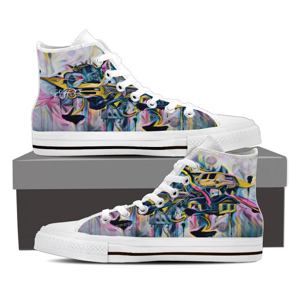 "Volkswagen Vans-Women's High Top-""Off the wall"""