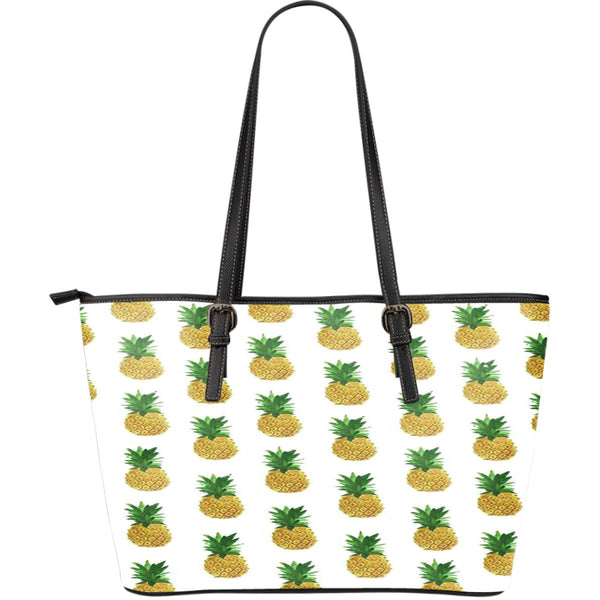 Pineapple Large Leather Tote