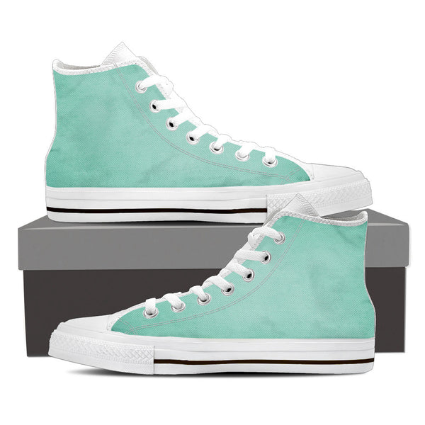 "Mint Ice-Men's High Top-""Just feel relax...you only live once"""