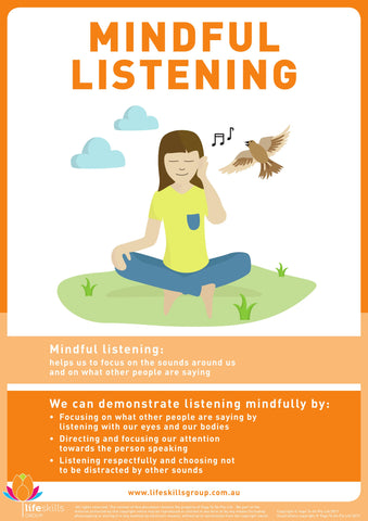 Mindful Listening Poster