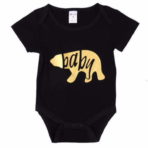 Baby and Mama Gold Bear Bodysuit