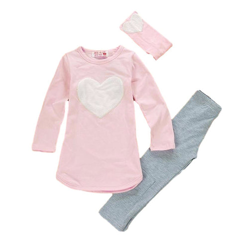 3pcs Heart Clothing Set