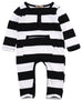 Black and White Striped Romper