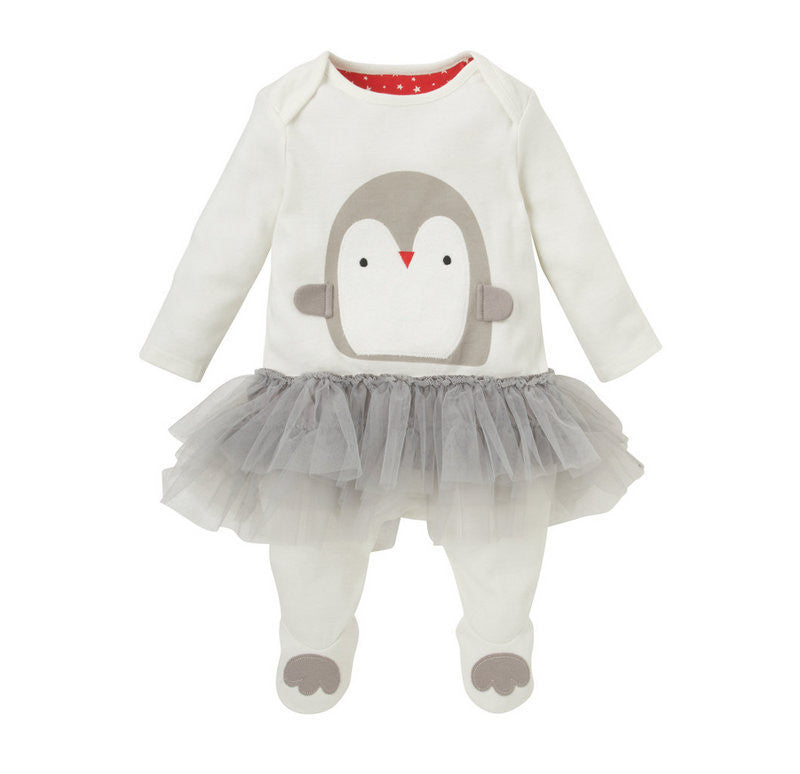 Baby Girl Penguin Romper