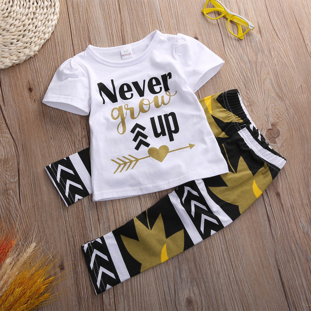 Never Grow Up Clothing Set