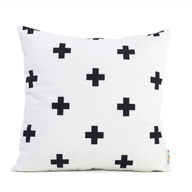 White Cross/Pyramid Pillow Cases