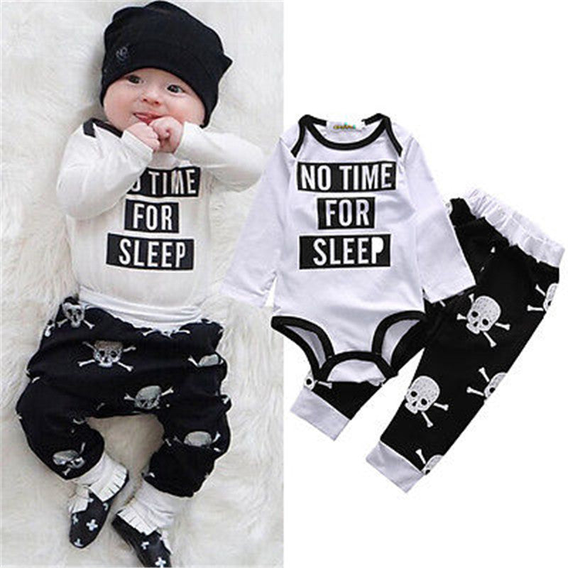 No Time For Sleep Bodysuit Set