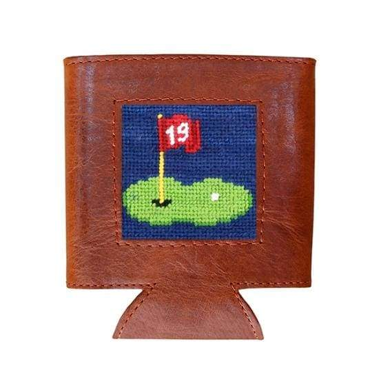 19TH HOLE NEEDLEPOINT CAN COOLER - The Navy Knot