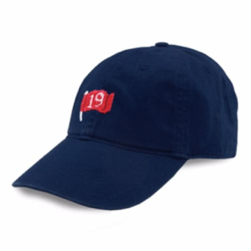 19TH HOLE NEEDLEPOINT HAT - The Navy Knot