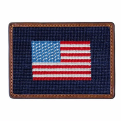 AMERICAN FLAG NEEDLEPOINT CARD WALLET - The Navy Knot