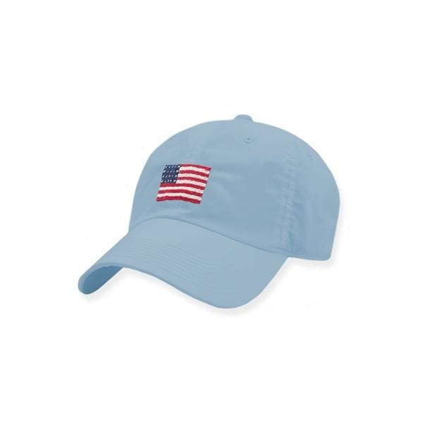 AMERICAN FLAG NEEDLEPOINT HAT - SKY BLUE - Hat