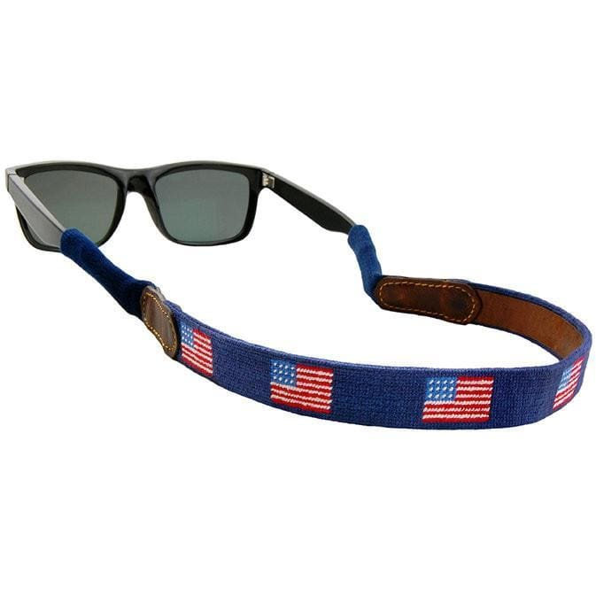 AMERICAN FLAG NEEDLEPOINT SUNGLASS STRAPS - The Navy Knot