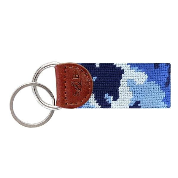 BLUE CAMO KEY FOB - Key Chains