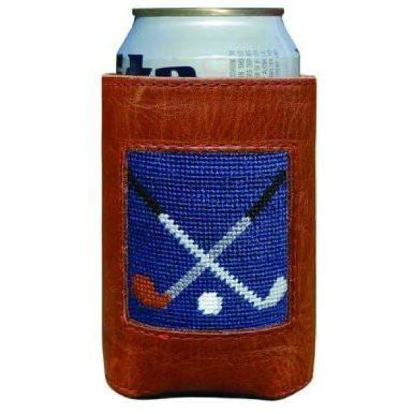CROSSED CLUBS NEEDLEPOINT CAN COOLER - The Navy Knot