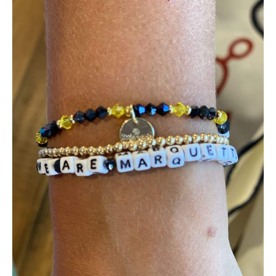 CUSTOM MARQUETTE LITTLE WORDS BRACELET - Bracelet