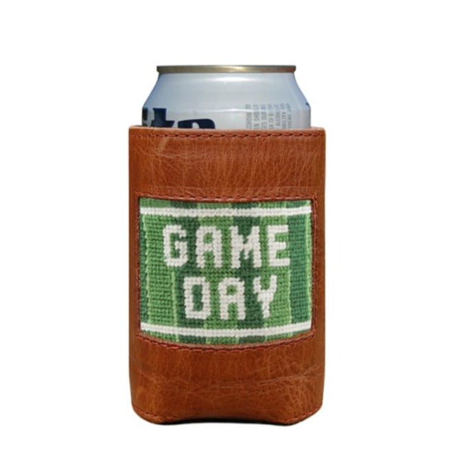 GAME DAY NEEDLEPOINT CAN COOLER - Barware