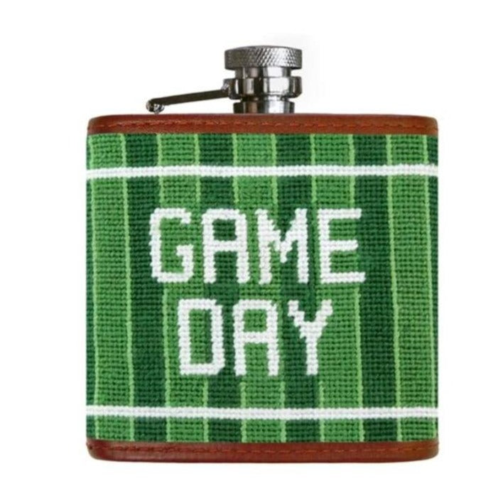 GAME DAY NEEDLEPOINT FLASK - Barware