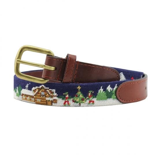 NORTH POLE CHILDREN'S NEEDLEPOINT BELT - The Navy Knot
