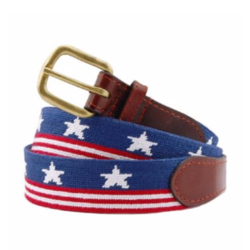 OLD GLORY NEEDLEPOINT BELT - The Navy Knot