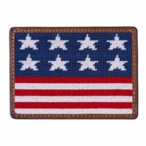 OLD GLORY NEEDLEPOINT CARD WALLET - The Navy Knot