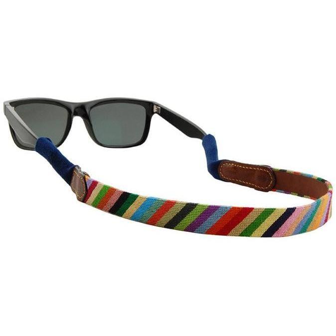 PARSONS STRIPE NEEDLEPOINT SUNGLASS STRAPS - The Navy Knot