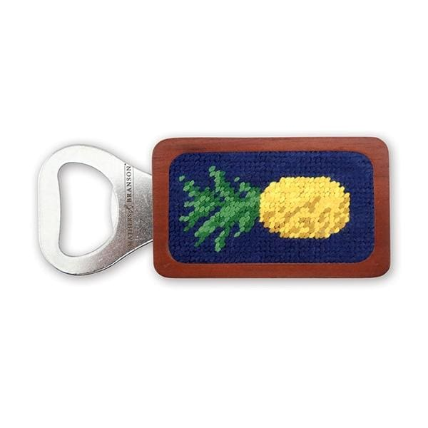 PINEAPPLE NEEDLEPOINT BOTTLE OPENER - The Navy Knot