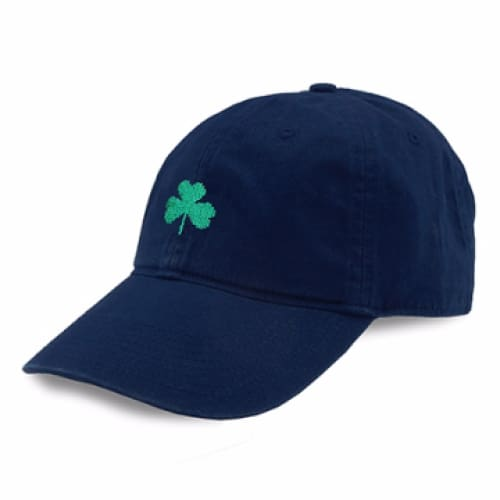 SHAMROCK NEEDLEPOINT HAT - NAVY - The Navy Knot