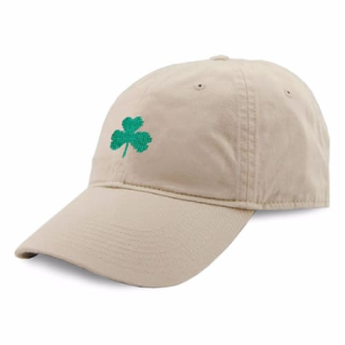 SHAMROCK NEEDLEPOINT HAT - STONE - The Navy Knot