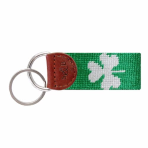 SHAMROCK NEEDLEPOINT KEY FOB - KELLY GREEN - The Navy Knot