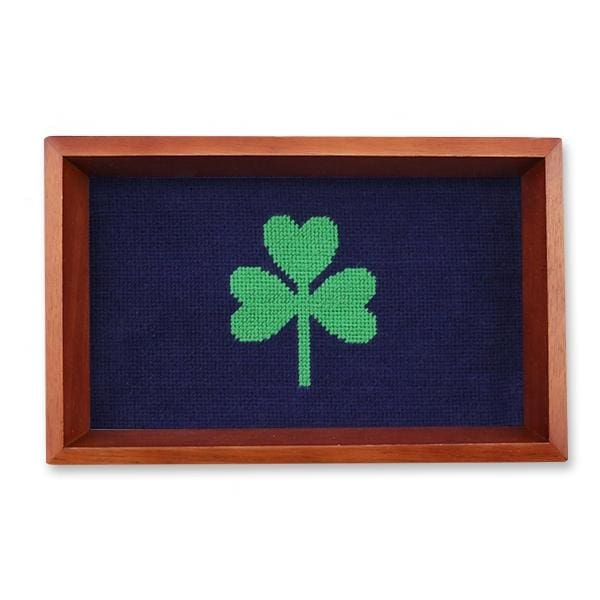SHAMROCK NEEDLEPOINT VALET TRAY - Desktop