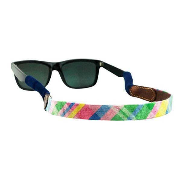 SPRING MADRAS NEEDLEPOINT SUNGLASS STRAPS - The Navy Knot