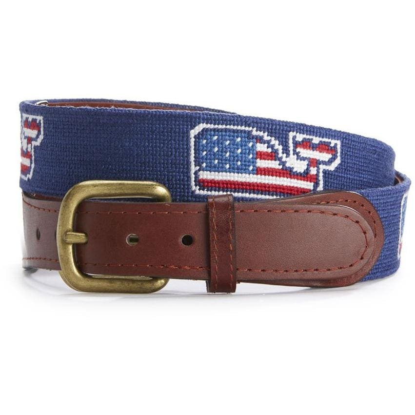 VINEYARD VINES NEEDLEPOINT BELT - The Navy Knot