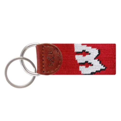 WISCONSIN NEEDLEPOINT KEY FOB - The Navy Knot
