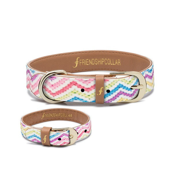Multi-Colored Top Dog FriendshipCollar (Includes Matching Bracelet for You)