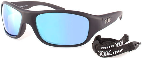 Tonic Sunglasses Shimmer Blue Mirror with Matt Black Frame