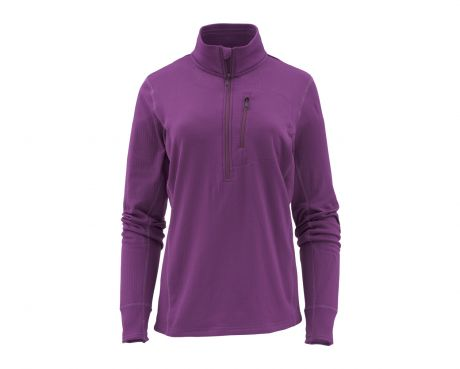 SIMMS Womens Fleece Midlayer 1/2 Zip