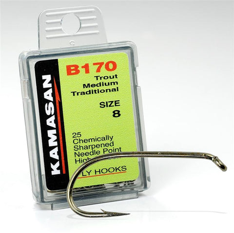 Kamasan B170 Trout Medium Traditional Fly Hooks Tasmania Australia