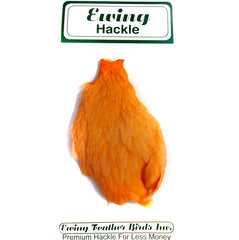 Ewing Hackle Hen Capes Orange Australia