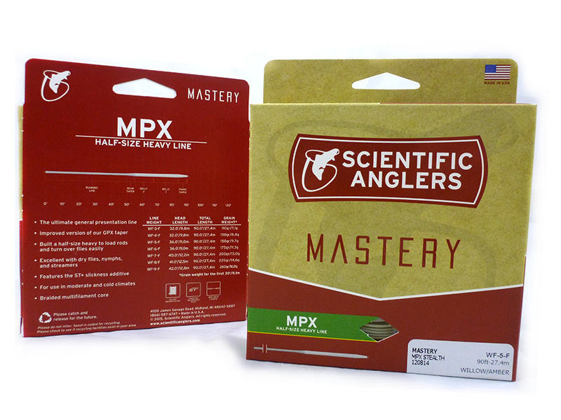 NEW SCIENTIFIC ANGLERS MASTERY MPX  WF8F FLY LINE AMBER//WILLOW fly fishing