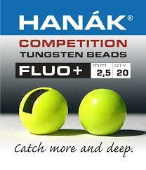 Hanak Competition Tungsten Bead Fluo+ Chartreuse