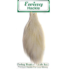 Ewing Hackle Hen Capes White Australia
