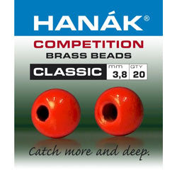 Hanak Competition Brass Bead Classic Fluro Red