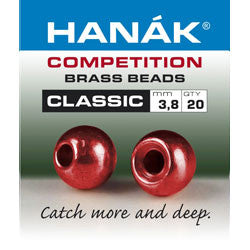 Hanak Competition Brass Bead Classic Metallic Red Australia