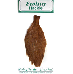Ewing Hackle Hen Capes Coachman Brown Australia