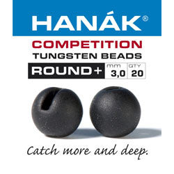 Hanak Competition Tungsten Bead Round Slotted Matt Black Australia