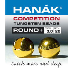 Hanak Competition Tungsten Bead Round Gold