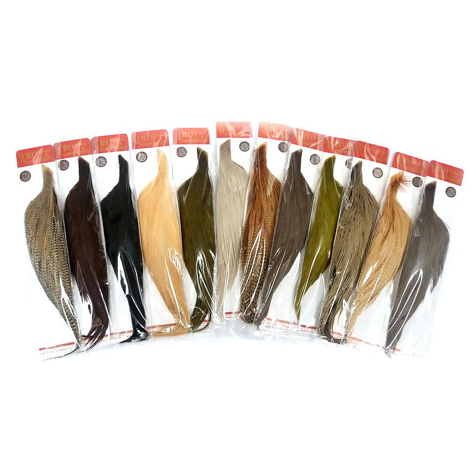 Whiting Dry Fly Hackle Rooster 1/2 Cape - Bronze Grade